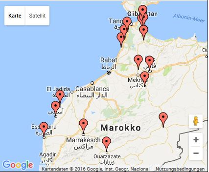 Marokko Route 2012