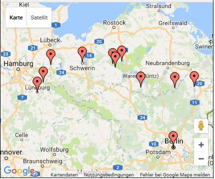 Route Mecklenburger Seenplatte 2016