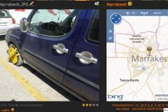 Marrakesh-•-Schreck-lass-nach-Auto-blockiert-und-einen-Zettel-an-der-Scheibe